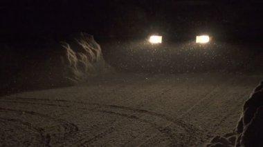 冬季夜间驾驶 — 图库视频影像
