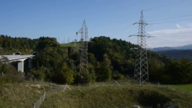 High voltage tower — Stock Video