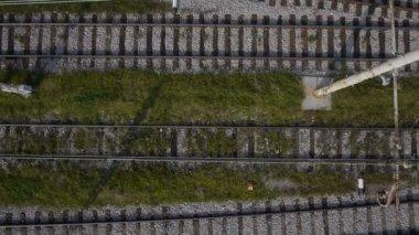 鉄道トラック — ストックビデオ