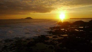 Sunrise at seaside — Stock Video