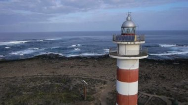 Lighthouse in Cotillo — Stock Video