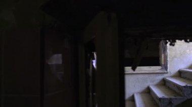 Salendo le scale di donna — Video Stock