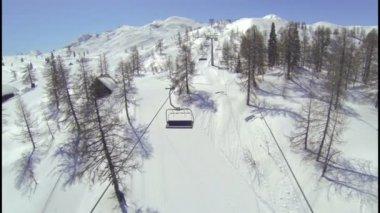 Above the ski lift — Video Stock