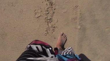 Spacery na plaży — Wideo stockowe