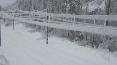 Frozen rain in Europe — Stock Video