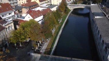 Ljubljanica river — Stock Video