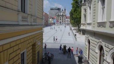 Sunny Ljubljana — Stock Video