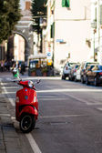 Red moped — Stock Photo