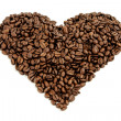 Coffee beans heart — Stock fotografie #36646337