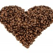 Coffee beans heart — Stock Photo