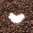 Coffee beans heart — Stock fotografie #36646347