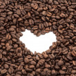 Coffee beans heart — Foto de stock #36646347