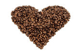 Coffee beans heart — 图库照片