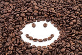 Coffee beans smile — Stock fotografie