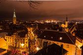 Tallinn night old town view — Stock Photo
