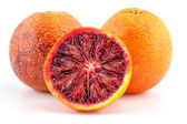 Slices of red blood oranges — Stock Photo