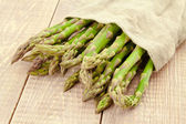 Sheaf of ripe green asparagus — Stock Photo