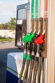 Fuel pumps at petrol station — Stock Photo
