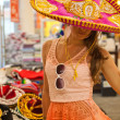 Stock Photo: Cute girl in sombrero