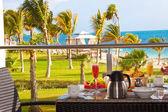 Desayuno en resort de lujo — Foto de Stock