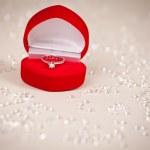 "Luxury jewel box with diamond ring ""I love you"" — Stock Photo #36083485"