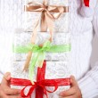 Gift box in hand — Stock Photo