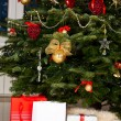 Decorated Christmas tree with presents — Stock Photo