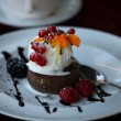 Stock Photo: Chocolate fondant lavcake