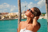 Sexy woman in Cap Cana — Stock Photo