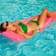 Relaxing in a pool — Stock Photo #43882575