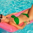 Relaxing in a pool — Stock Photo