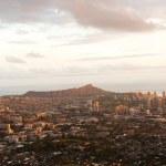 Beautiful Skyline of Oahu, Hawaii — Stock Photo #49646455