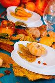 Thanksgiving table — Stock Photo
