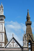 Florence, detail van de kerk van santa croce — Stockfoto