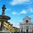 Stock Photo: Italy, Florence, SantCroce square