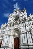 Florence, Italy, facade of the church of Santa Croce — Stock Photo