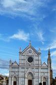 Florenz, italien, fassade der kirche santa croce — Stockfoto