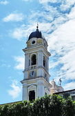 Italy, Campania, bell tower of the church of St Anne of Bacoli — Stock Photo