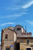 Typical houses of Recanati, Marche, Italy — Stock Photo