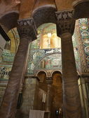Inside the Basilica of San Vitale in Ravenna, Italy — Stock Photo