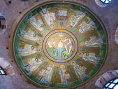 Italy, Ravenna, mosaic in the dome of the Baptistery of the Arians — Stock Photo