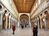 Interior of the Basilica of St Apollinare Nuovo — Stock Photo