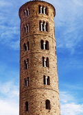 Italy, Ravenna, bell tower of the Basilica of St Apollinare Nuovo — Stock Photo
