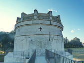 Detail of the the Mausoleum of Theodoric in Ravenna, Italy — Fotografia Stock