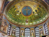 Interior of the church of Sant'Apollinare in Classe, Ravenna, Romagna, Italy — Stock Photo