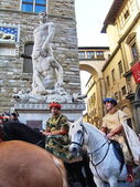 Cavalcade of the Magi, Florence, Italy — Foto Stock