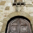 Stock Photo: Detail of Palazzo Pretorio, Prato, Tuscany, Italy