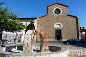 Sant'Agostino square, Prato, Tuscany, Italy — Stock Photo