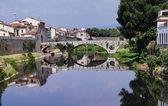 Mercatale bridge, Prato, Tuscany, Italy — Foto Stock