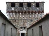 Fort van sarzanella, ligurië, italië — Stockfoto